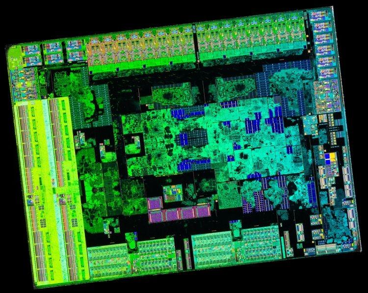 12-нм кристалл логики ввода-вывода процессора Ryzen 5 3600. Источник изображения: Flickr, Fritchens Fritz