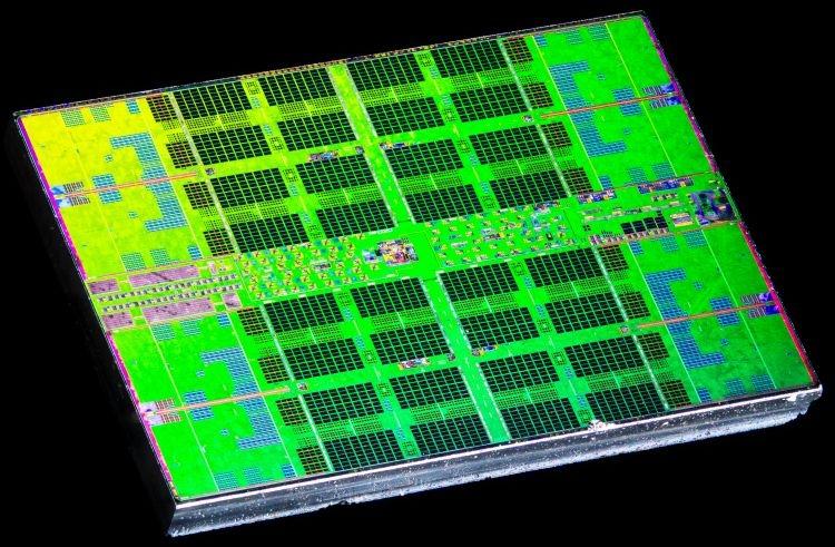 7-нм кристалл с вычислительными ядрами Ryzen 5 3600. Источник изображения: Flickr, Fritchens Fritz