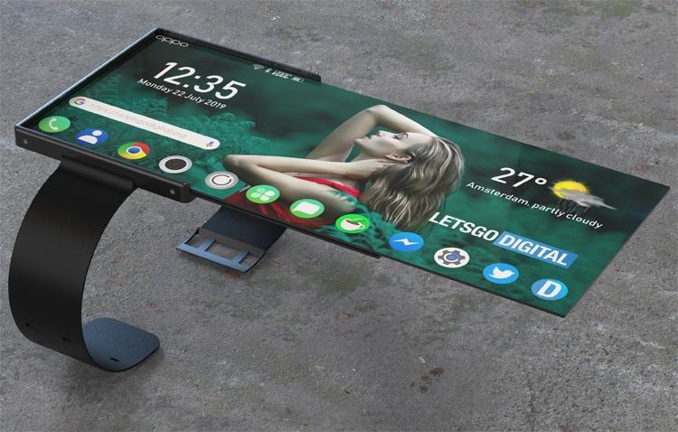"""OPPO предложила дизайн смарт-часов со складным дисплеем"""""""