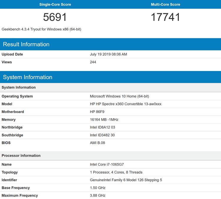 """Первые тесты Core i7-1065G7 (Ice Lake): Intel снова впереди по однопоточной производительности"""""""