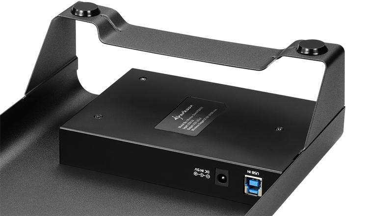 """Подставка Sharkoon Monitor Stand Power оснащена станцией беспроводной зарядки"""""""