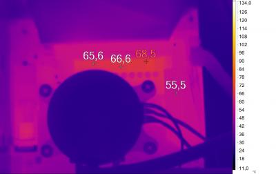 Нагрев конвертера питания GIGABYTE X570 AORUS PRO (Ryzen 5 3600X, номинал)