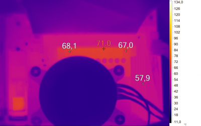Нагрев конвертера питания GIGABYTE X570 AORUS PRO (Ryzen 5 3600X, разгон)