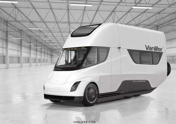 "Vanlifer продемонстрировала концепт автодома на базе Tesla Semi"""
