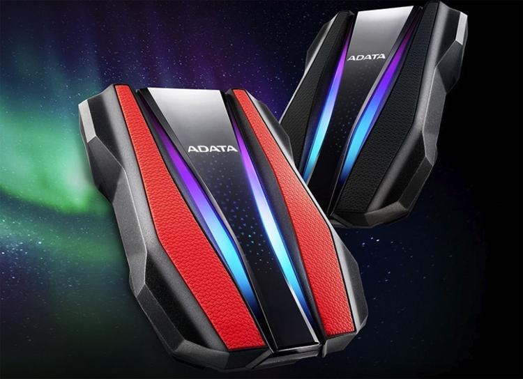 """ADATA HD770G: защищённый внешний накопитель с подсветкой"""""""