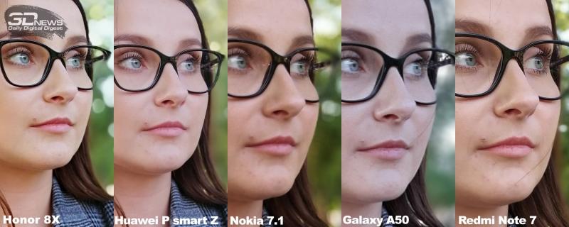 Сравнение резкости в режиме портретной съемки, двенадцатая сцена