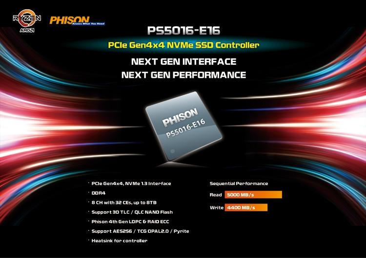"""Phison представила продукты с поддержкой PCIe Gen4"""""""