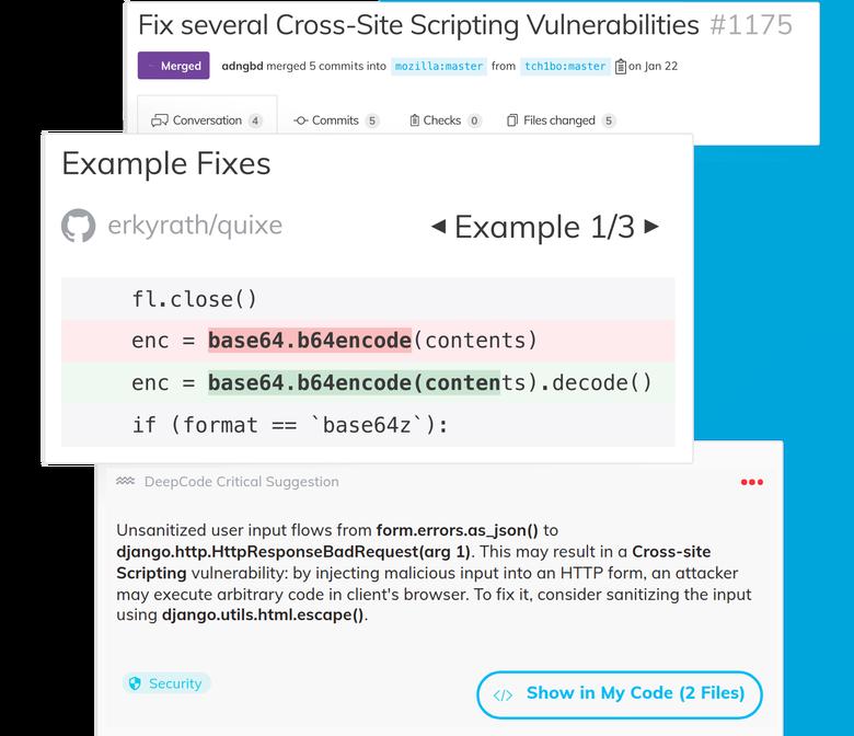 Швейцарский стартап DeepCode, вышедший из ETH Zurich (Швейцарского федерального технологического института) использует искусственный интеллект, чтобы автоматизировать поиск ошибок и уязвимостей в программном коде, упростив эту задачу для разработчиков