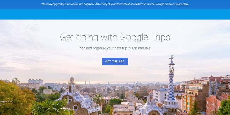 """Google закрывает приложение для планирования поездок Trips"""""""