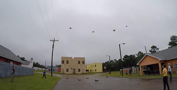 """Видео: рой беспилотников DARPA окружает здание в ходе симуляции военной операции"""""""