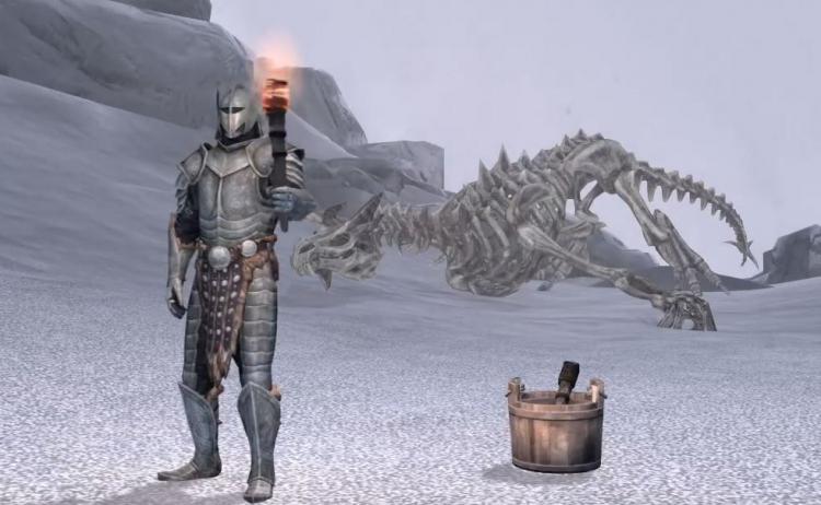 """Блогер прошел The Elder Scrolls V: Skyrim, применяя только факел, суп и исцеление"""""""