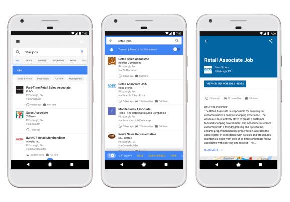 Сайты по поиску работы объединились против Google, утверждая, что агрегатор вакансий встроенный в поисковую выдачу вредит их бизнесу