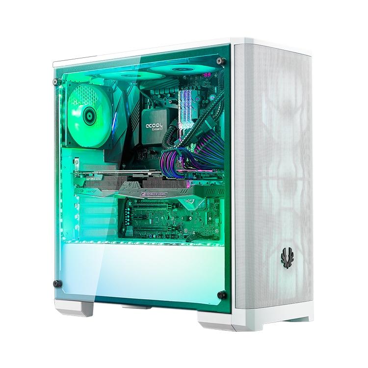"""BitFenix Nova Mesh TG: компьютерный корпус в белом и чёрном цвете"""""""