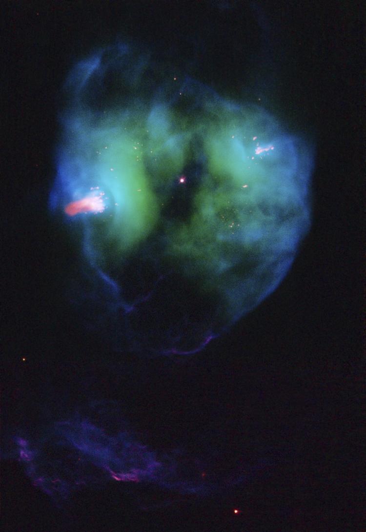 Планетарная туманность NGC 2371 / NGC 2372 в 2008 году