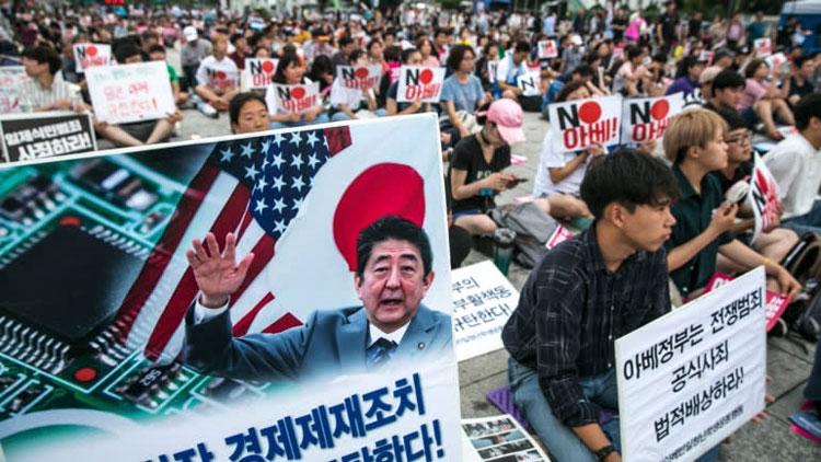 Антияпонские выступления в Южной Корее (Jean Chung)
