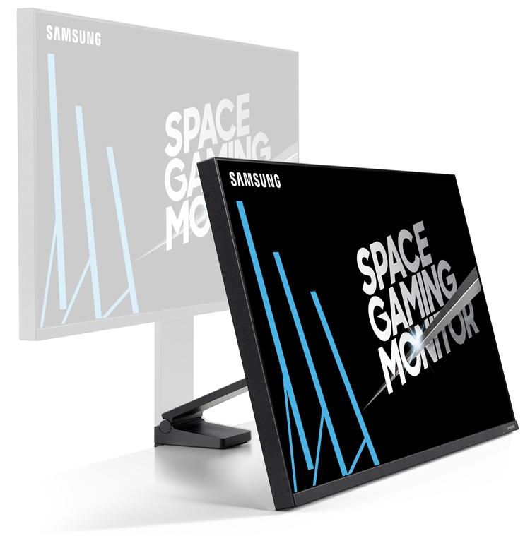 """Игровая панель Samsung Space Gaming Monitor умеет прижиматься к стене"""""""