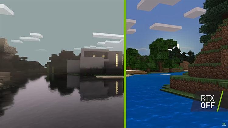 "Видео: NVIDIA показала настоящий потенциал RTX в Minecraft, добавив HD-текстуры"""