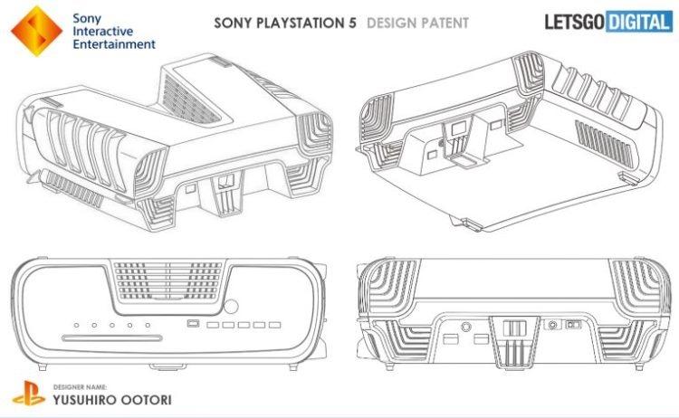 """Запатентован дизайн новой игровой консоли Sony. PlayStation 5 будет такой?"""""""