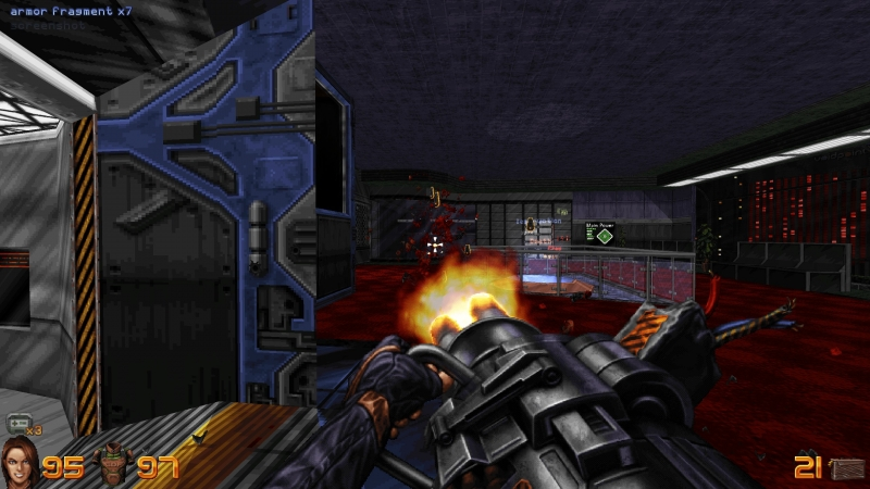Когда вражеские тушки взрываются, то из них выпадают кусочки брони. Любые совпадения с Wolfenstein случайны!