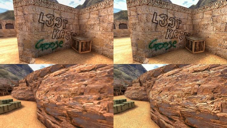 "Моддер при помощи нейросети улучшил текстуры карты Dust 2 из Counter-Strike 1.6"""