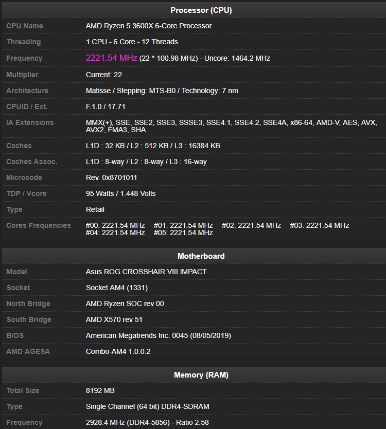 Источник изображения: база валидации результатов CPU-Z