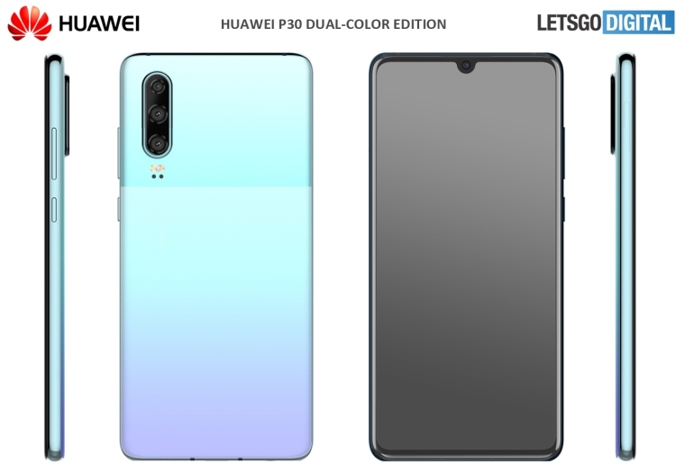 "Huawei запатентовала двухцветный дизайн для смартфона P30"""