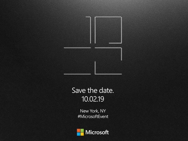 """Microsoft представит 2 октября новые устройства Surface"""""""