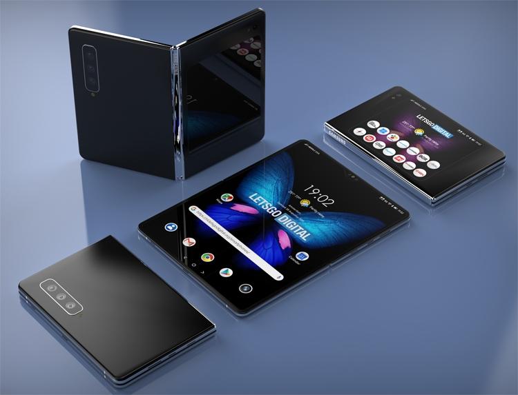 """Рендеры проливают свет на конструкцию гибкого смартфона Samsung Galaxy Fold 2"""""""