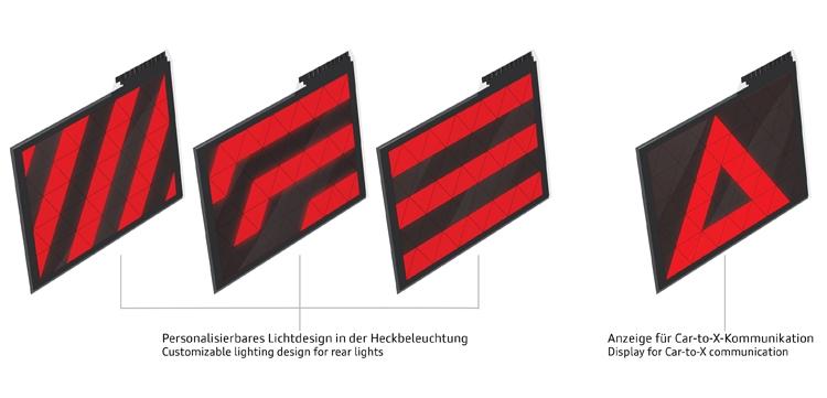 """Задние фонари автомобилей Audi смогут отображать предупреждения"""""""