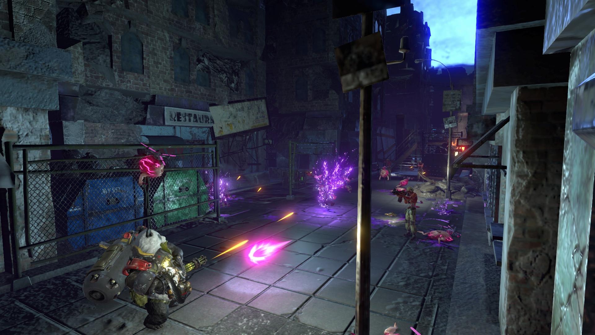 11-минутная запись геймплея кооперативного аркадного боевика Contra: Rogue Corps
