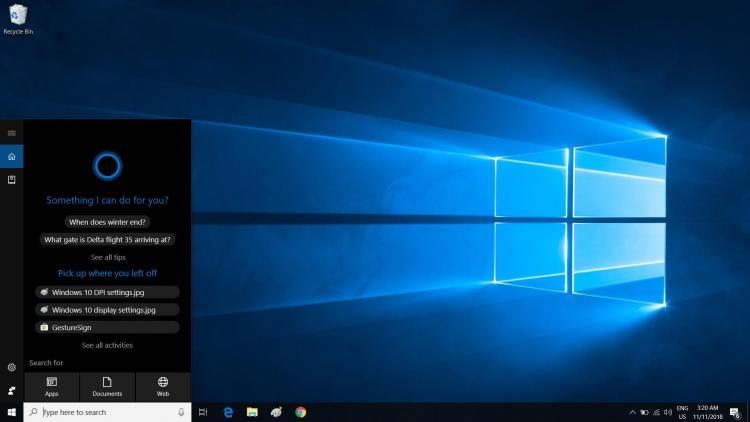 """В тестовой сборке Windows 10 голосовой помощникCortana сделали отдельным приложением"""""""