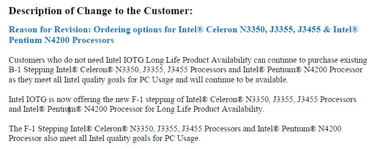 """Intel пришлось объяснять, что с долговечностью процессоров Apollo Lake степпинга B1 всё в порядке"""""""