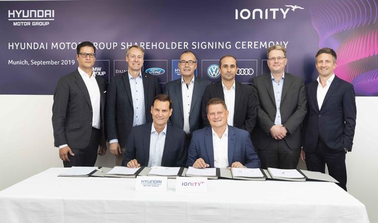 Hyundai поддержит проект IONITY для расширения сети электрозарядных станций