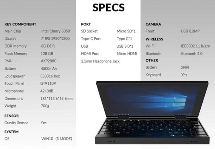 """Компактный ноутбук-трансформер Peakago с 7"""" дисплеем обойдётся в $300"""""""