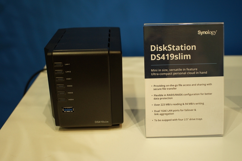 Synology DiskStation DS419slim на выставке IFA 2019