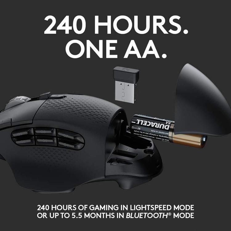 """Игровая мышь Logitech G604 LightSpeed с датчиком HERO не нуждается в проводах"""""""