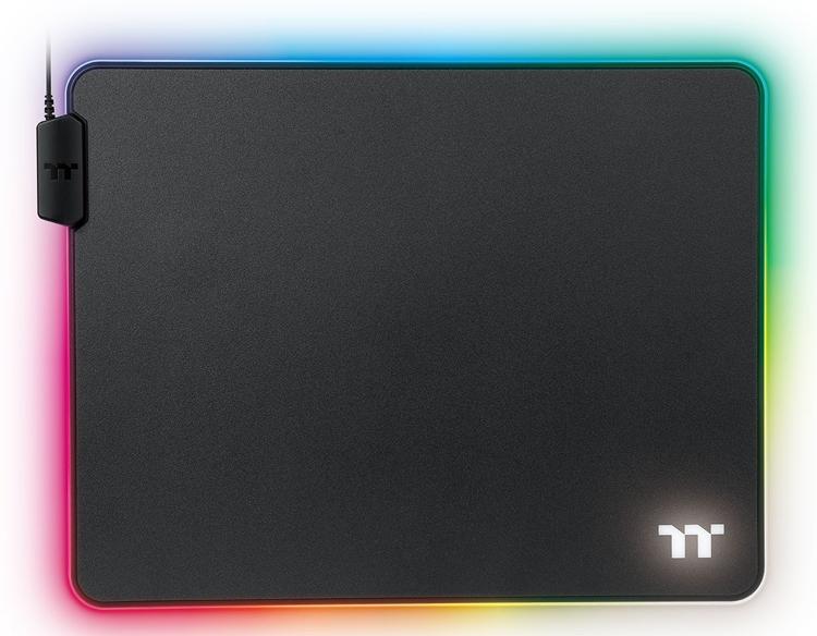 "Коврики для мыши Thermaltake Level 20 RGB: подсветка и два варианта размера"""