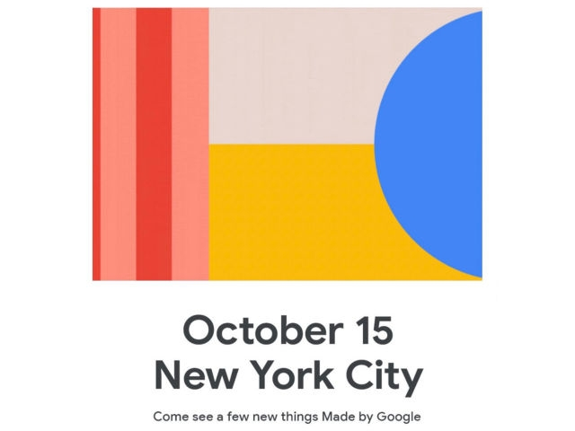 """Официально подтверждено Google: презентация Pixel 4 состоится 15 октября"""""""
