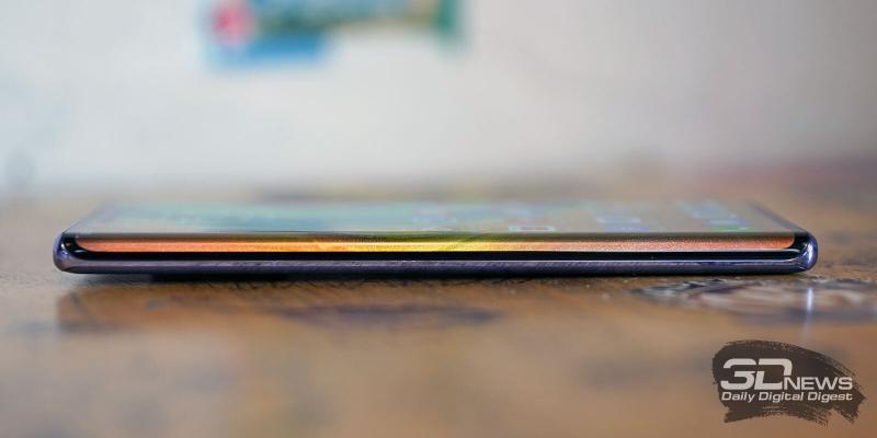 Huawei Mate 30 Pro, левая грань лишена функциональных элементов