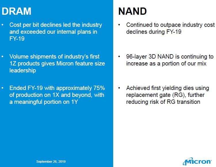 При создании 128-слойной памяти 3D NAND Micron будет использовать технологию замещающего затвора