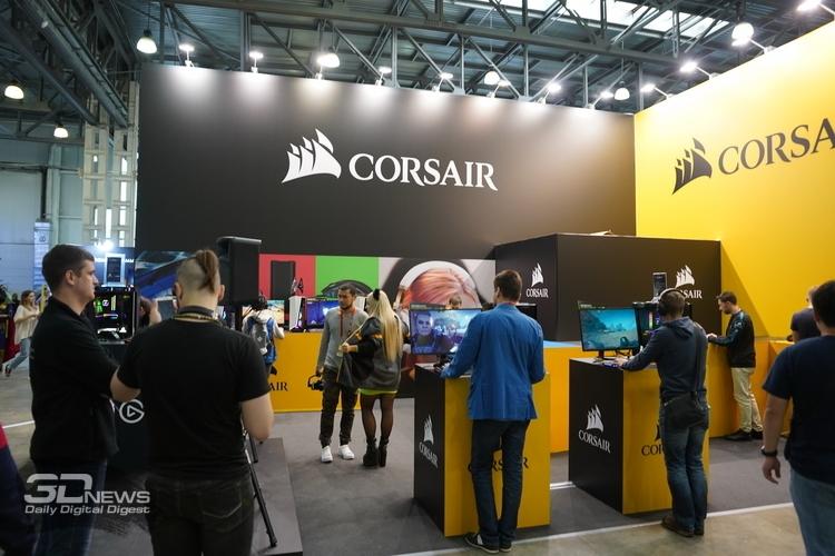 «ИгроМир 2019»: яркий стенд Corsair