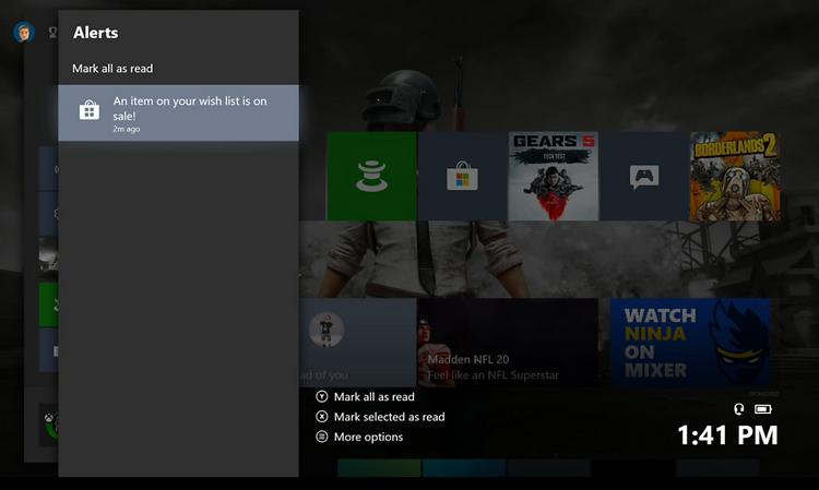 """Со свежим обновлением Xbox One уведомит вас о скидке на интересующую игру"""""""