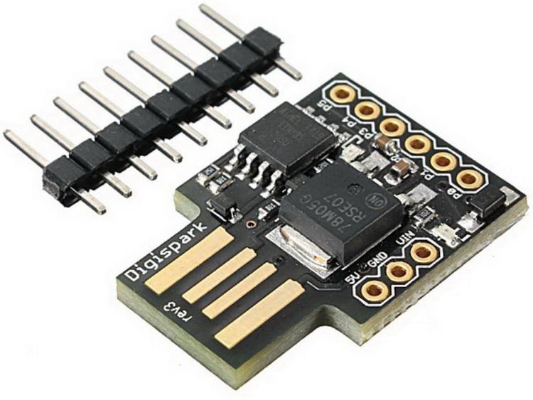 Digispark Attiny 85: донор чипов-закладок. Верхняя микросхема ‒ контроллер
