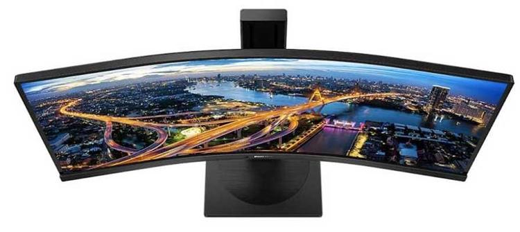 "Монитор Philips 346B1C оснащён вогнутым экраном UltraWide QHD"""