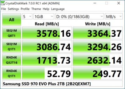 Samsung 970 EVO Plus 2 Тбайт