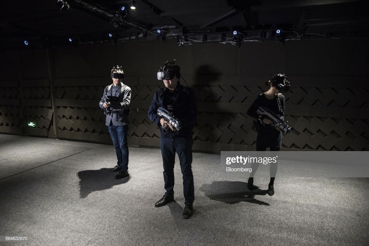 В одном из VR-залов компании Sky Limit Entertainment