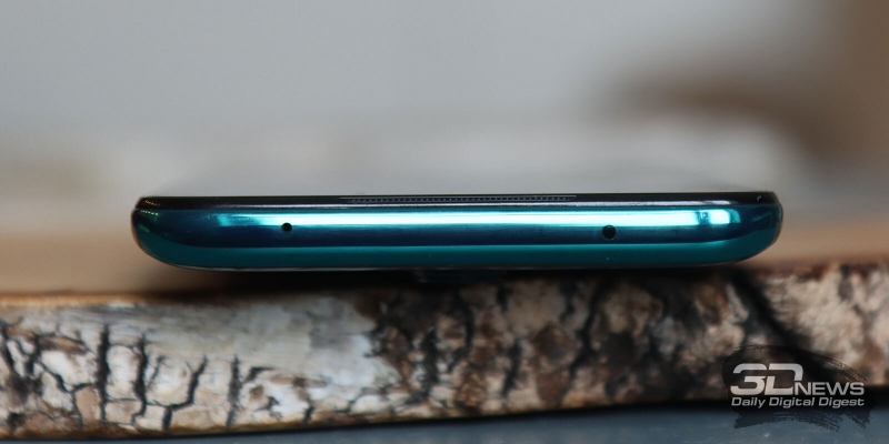 Xiaomi Redmi Note 8 Pro, верхняя грань: микрофон и ИК-порт