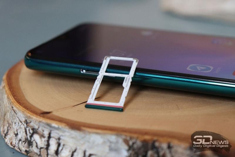 Xiaomi Redmi Note 8 Pro, слот для SIM-карт и/или карты памяти