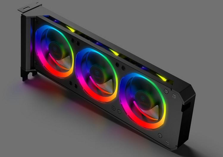 """Anidees RGB VGA Cooler: дополнительные вентиляторы с RGB-подсветкой для видеокарты"""""""