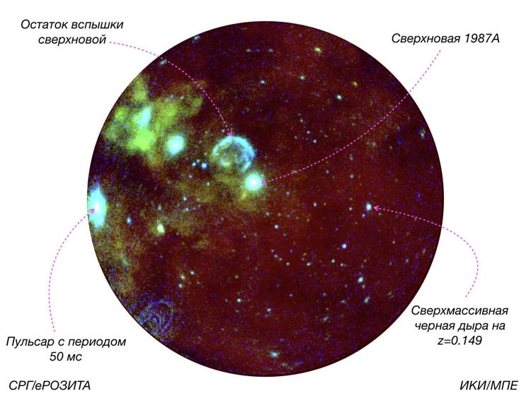 Изображение участка близкой галактики Большое Магелланово Облако / ИКИ РАН